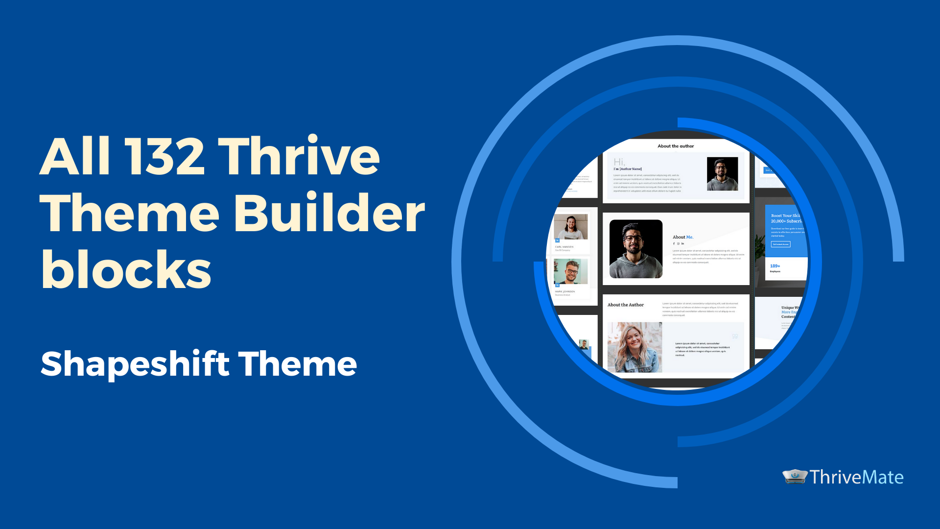 Thrive Theme Builder and Thrive Architect consistent headers and footers in 2020